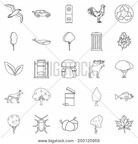 Reserve icons set. Outline set of 25 reserve vector icons for web isolated on white background