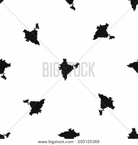 Indian map pattern repeat seamless in black color for any design. Vector geometric illustration