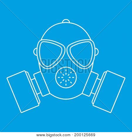 Respirator icon blue outline style isolated vector illustration. Thin line sign