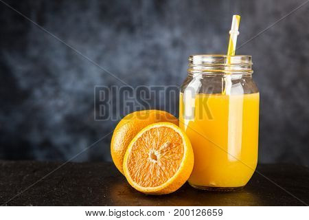 Jar of orange juice