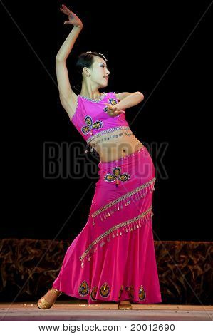 Chinese Dai Ethnic Dancer