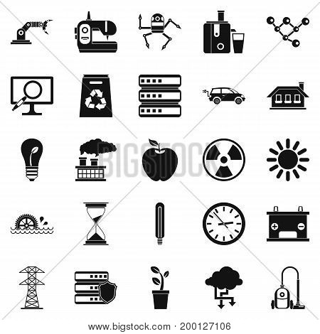 Compensator icons set. Simple set of 25 compensator vector icons for web isolated on white background