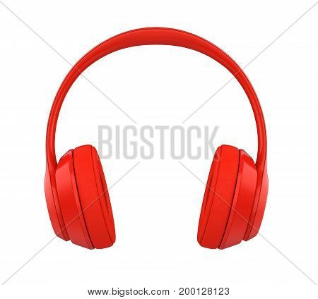 Headphones isolated on white background. 3D render