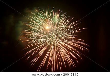 brightly colorful festive fireworks