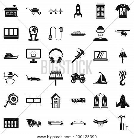 Useful engineering icons set. Simple style of 36 Useful engineering vector icons for web isolated on white background