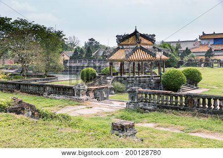 Old pagoda in vietnam Hue. A UNESCO World Heritage Site. Hue Vietnam