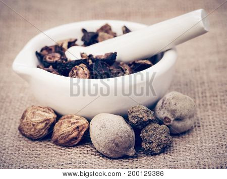 Triphala a combination of ayurvedic fruits of Indian subcontinent