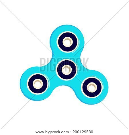 fidget spinner stress relieving toy colorful. Fidget finger spinner stress, anxiety relief toy. Hand spinner icon vector illustration