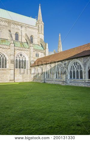 Chichester cathedral and cloisters West Sussex UK