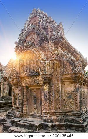 Banteay Srey Temple ruins (Xth Century) Siem Reap Cambodia