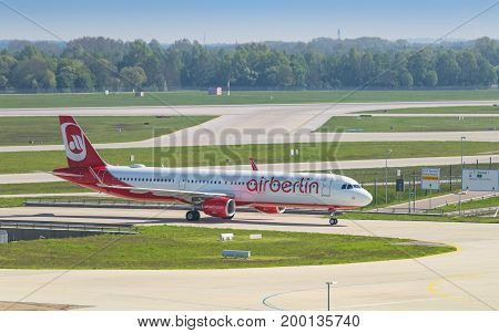 Airliner Airbus A321 Of Air Berlin Low-cost Airline