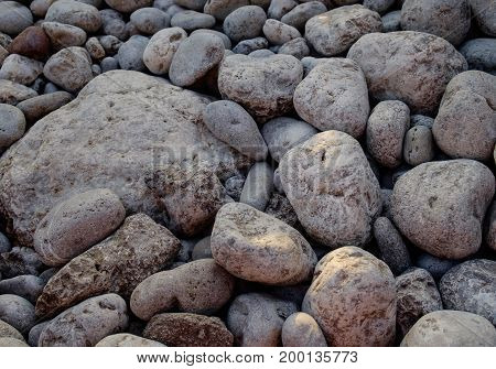 Stone ground in the park for background / texture / pattern