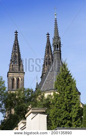 Church of St Peter and Paul at Vysehrad in Prague Czech Republic