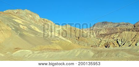Sunny day in Artist's Drive, Death Valley