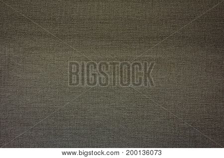 Burlap close-up natural coarse cloth tablecloth with folds