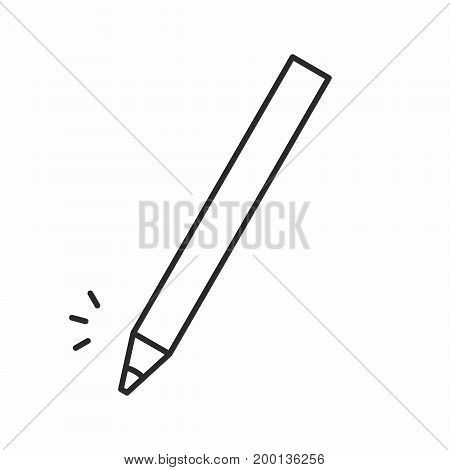 Cosmetic Makeup Pencil line icon on white background. Vector illustration.