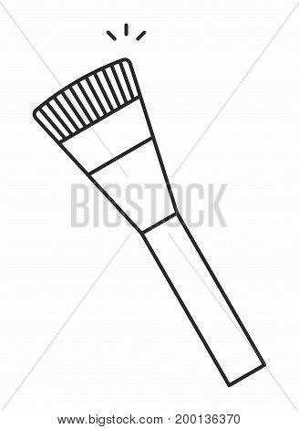Makeup Brush line icon on white background. Vector illustration.