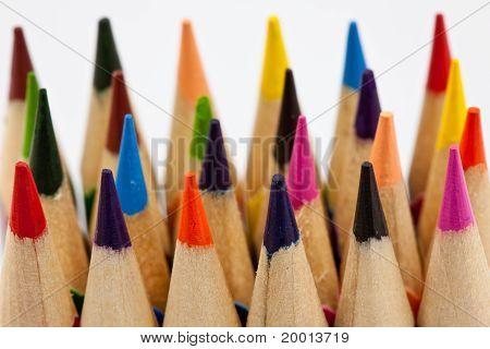 vertical multicolored pencils