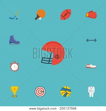 Flat Icons Second Meter, Volleyball, Ice Boot And Other Vector Elements