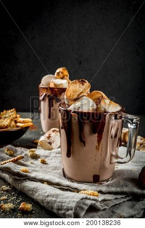 Campfire Cocktail With Roasted Marshmallow