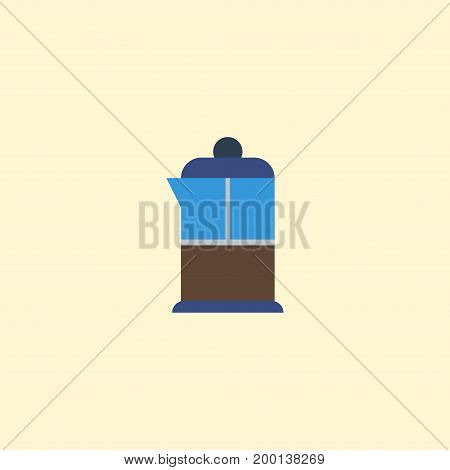 Flat Icon Pot Element. Vector Illustration Of Flat Icon French Press Isolated On Clean Background