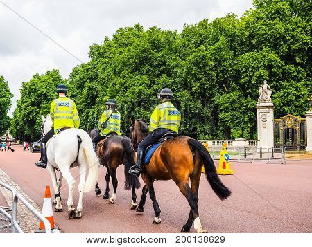 Police On Horseback In London (hdr)