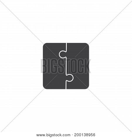 Jigsaw puzzle vector, blank simple template pieces