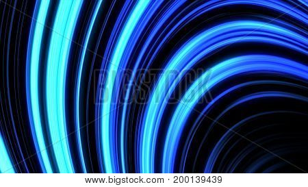 Abstract Animated Glowing Gold Background 3D Illustration