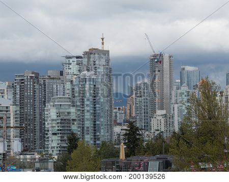 Downtown Vancouver skyscrapers downtown Vancouver Canada April 2017