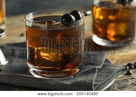 Homemade Boozy Coffee Old Fashioned