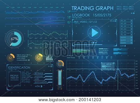 HUD UI app. Futuristic user interface HUD and Infographic elements. Abstract virtual graphic touch user interface. UI hud infographic interface screen monitor radar set web elements
