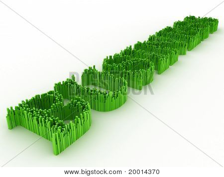 Word of Business of green spine