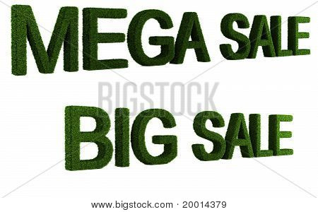 Sale of grass collection text