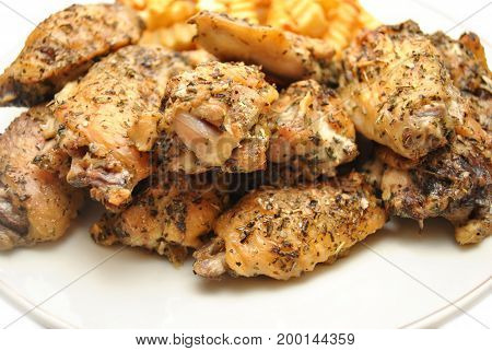 Crispy Grilled Italian Spiced Chicken Wing Pieces
