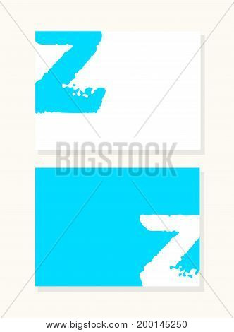 Vector hand drawn letter z with smooth acrylic brush style edges