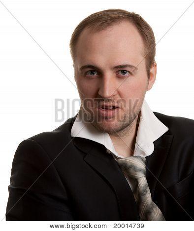 Disheveled Businessman