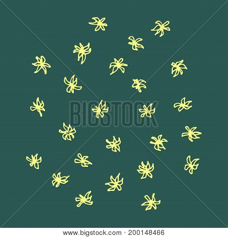 Set of simple flowers. Doodle vector image. Hand drawn stylized illustration usable as print or pattern.