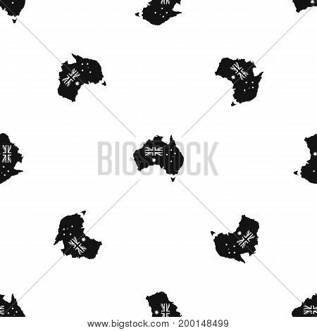 Australia pattern repeat seamless in black color for any design. Vector geometric illustration