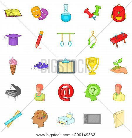 Academy icons set. Cartoon set of 25 academy vector icons for web isolated on white background