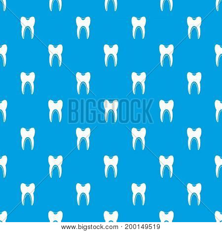 Tooth pattern repeat seamless in blue color for any design. Vector geometric illustration
