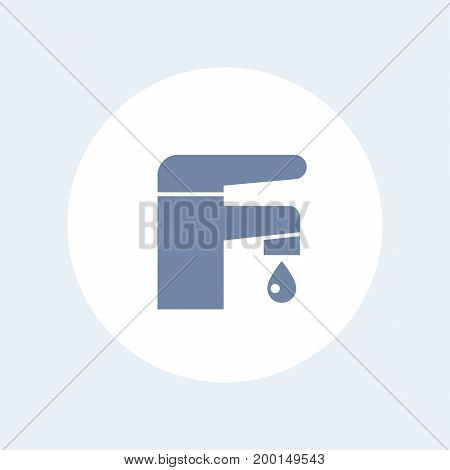 Faucet icon isolated on white, eps 10 file, easy to edit