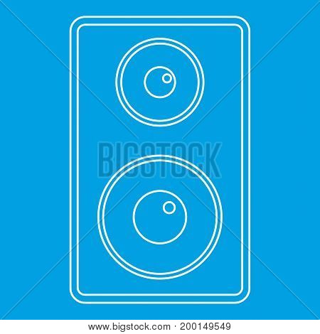 Subwoofer icon blue outline style isolated vector illustration. Thin line sign