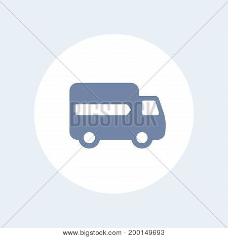 delivery icon isolated over white, eps 10 file, easy to edit