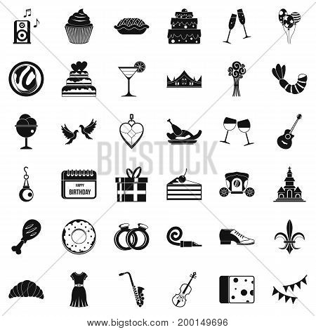 Good banquet icons set. Simple style of 36 good banquet vector icons for web isolated on white background