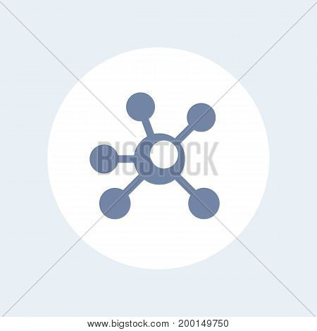 Connections icon isolated over white, eps 10 file, easy to edit