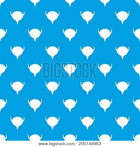 Bladder pattern repeat seamless in blue color for any design. Vector geometric illustration