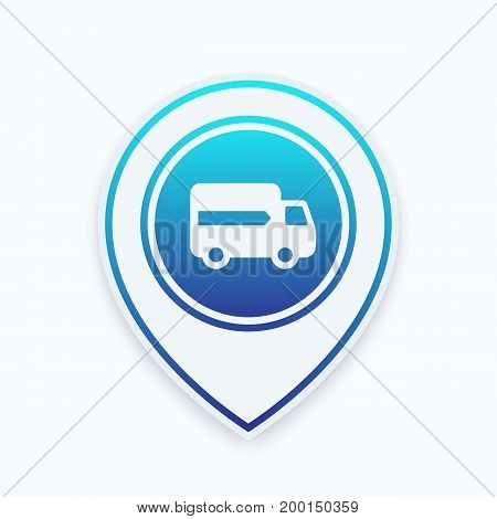 delivery icon on marker, eps 10 file, easy to edit