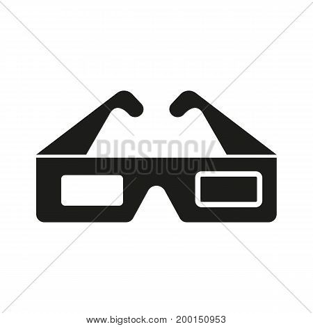 Simple icon of 3d glasses. 3d film, cinema, stereoscope. Movie concept. Can be used for topics like entertainment, technology, leisure