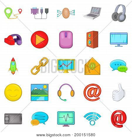 Periphery icons set. Cartoon set of 25 periphery vector icons for web isolated on white background