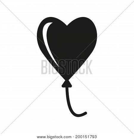 Simple icon of heart-shaped balloon. Love, Valentine day, celebration. Love concept. Can be used for topics like relationships, holiday, party
